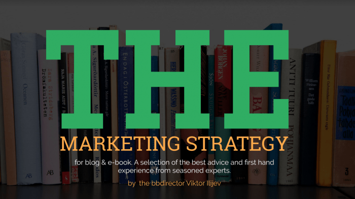 marketing strategy for an ebook