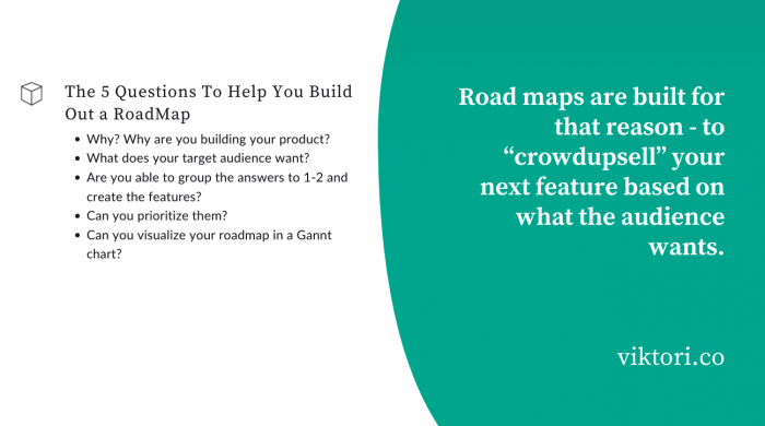 roadmap - 3rd step in the competitor analysis framework.