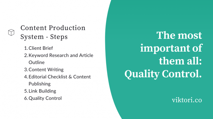 Content production system steps to take